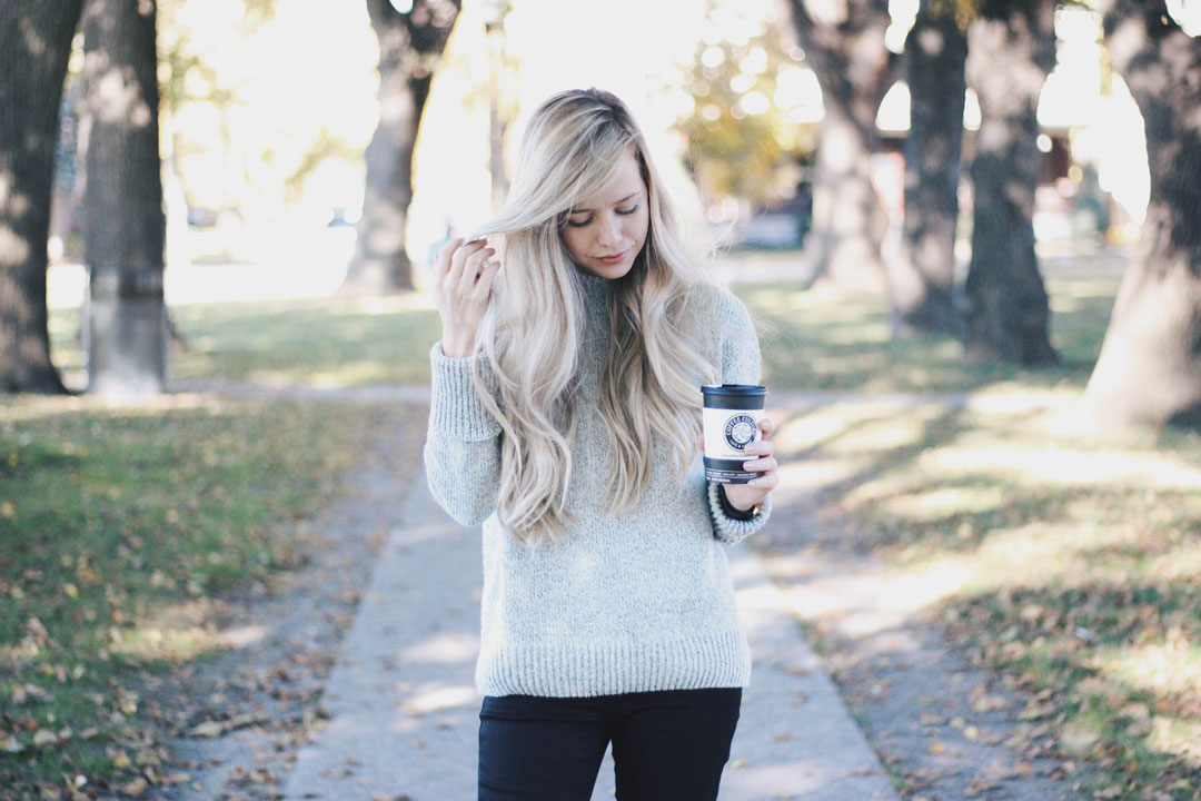 Oversized Knit Sweater, Casual Winter Outfit, Alex Gaboury