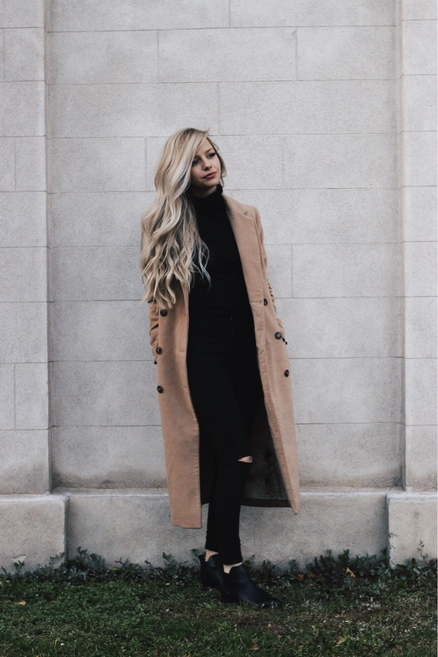 Camel Midi Coat, Winter Outfit, Alex Gaboury