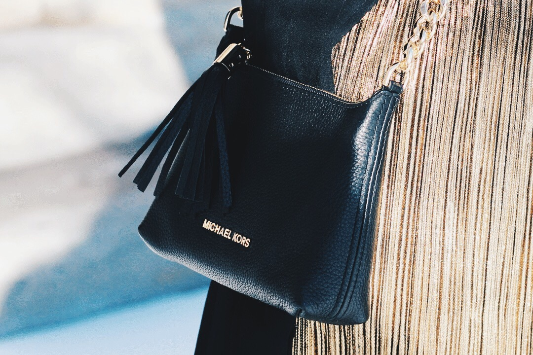 Details, Leather Michael Kors Purse, With Gold Chain, Alex Gaboury