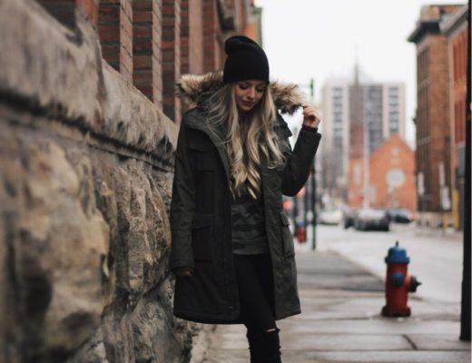 Casual Winter Outfit, Aritzia Parka, Alex Gaboury