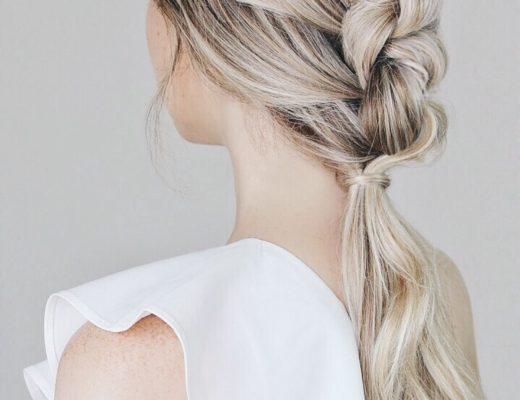 Simple Knotted Pony-tail Tutorial Perfect For Weddings, Prom, Formal
