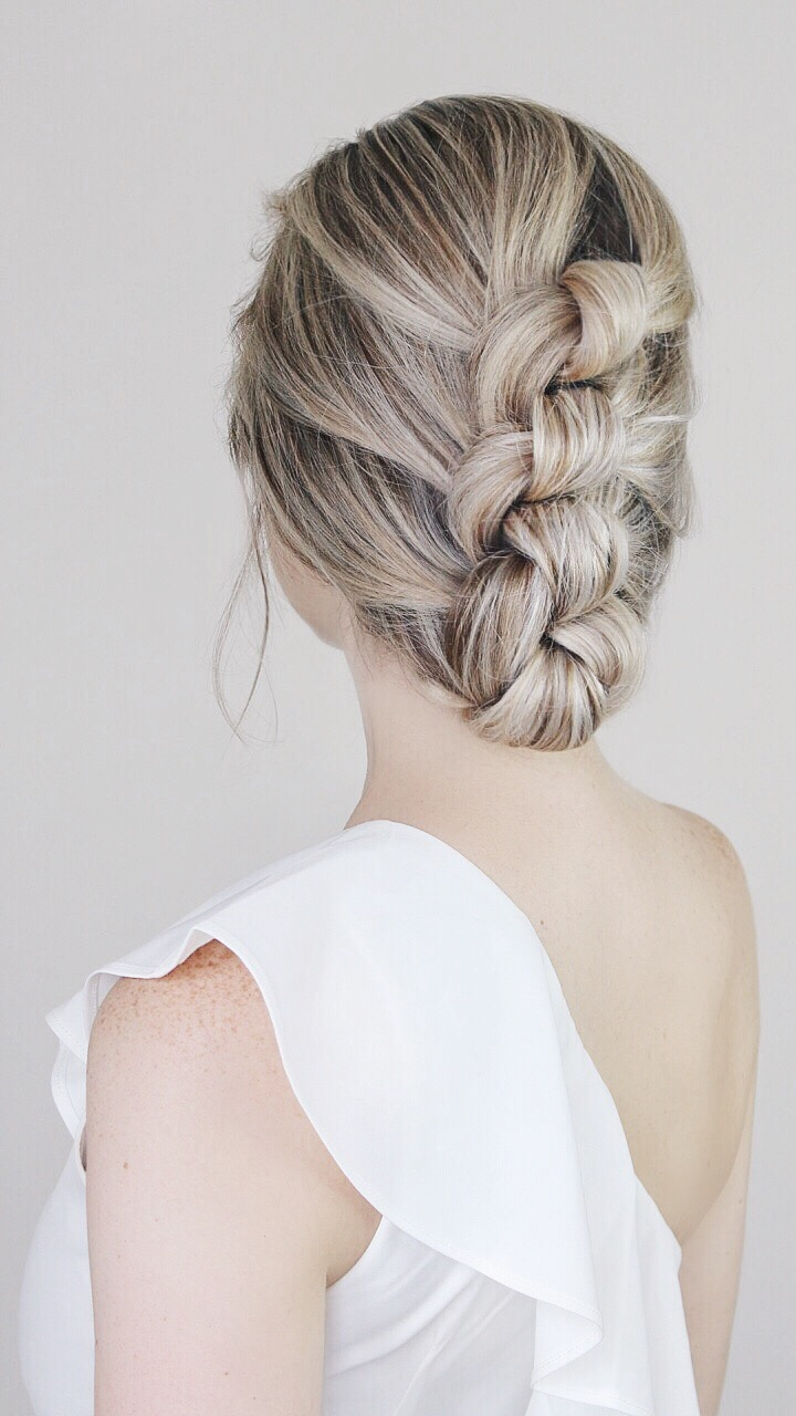 Easy Knotted Updo Tutorial