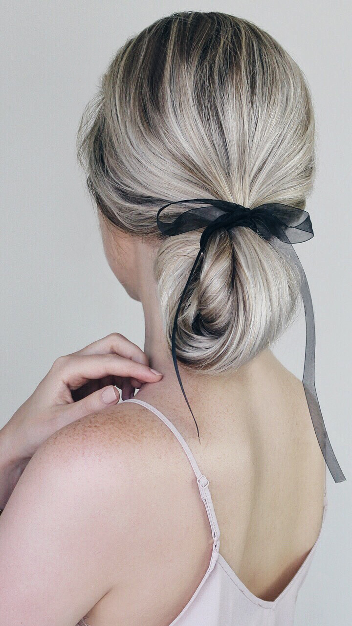 Effortless Bun Hairstyle With Bow, Alex Gaboury