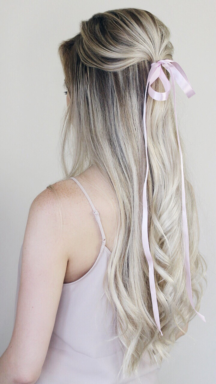 Simple Half-up Hairstyle With Bow, Alex Gaboury