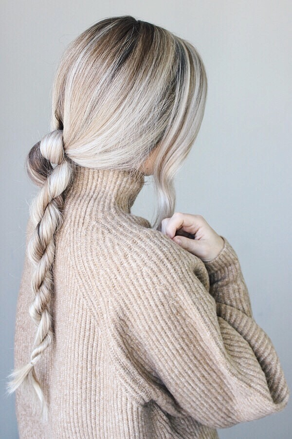 Easy Hairstyle Perfect For Fall, Rope Braid | Alex Gaboury