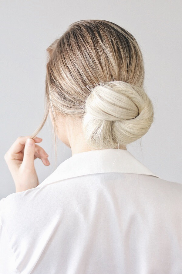 Easy Low Knotted Bun Hair Tutorial | Alex Gaboury