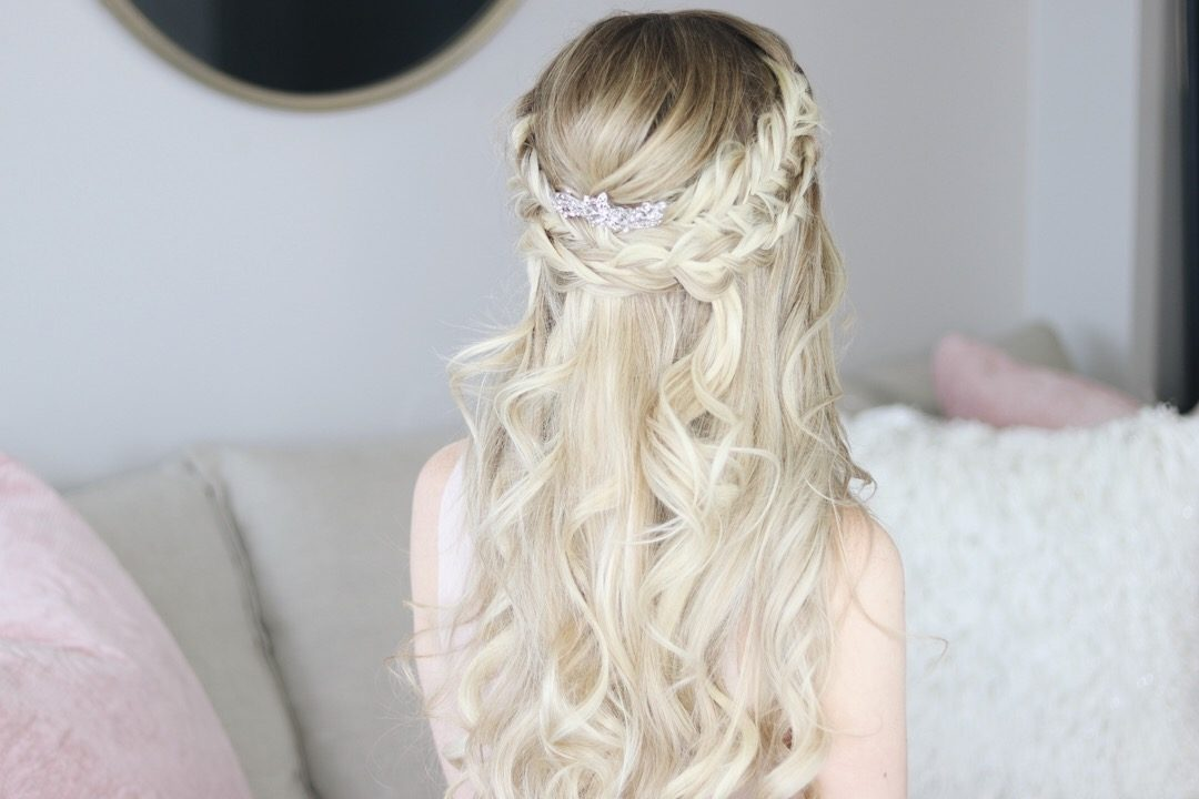Bridal Half-up Hairstyle, Alex Gaboury