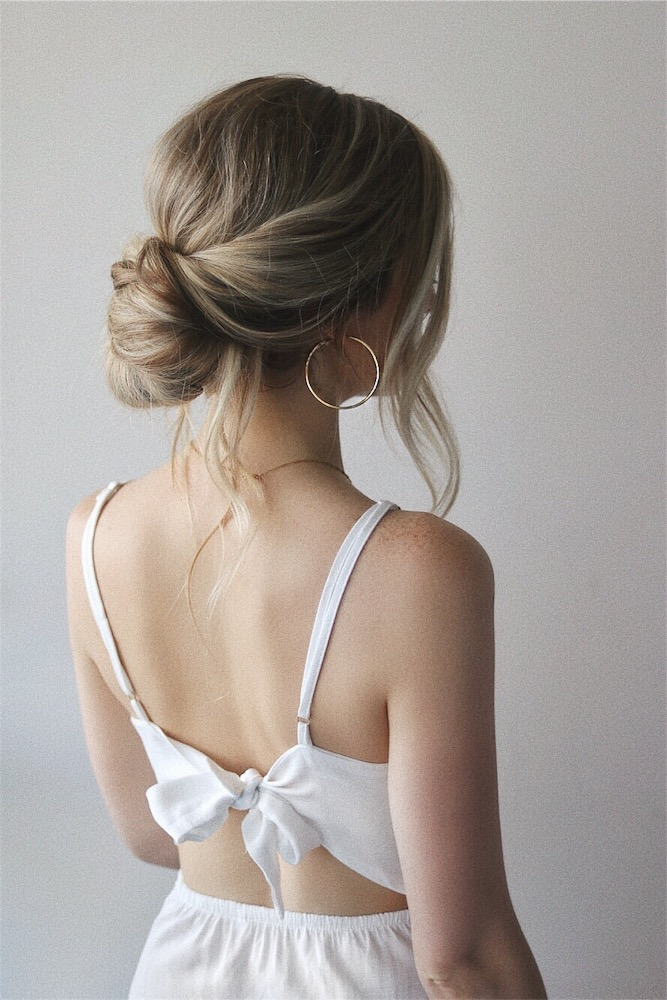 how to simple updo perfect for brides bridesmaids alex gaboury