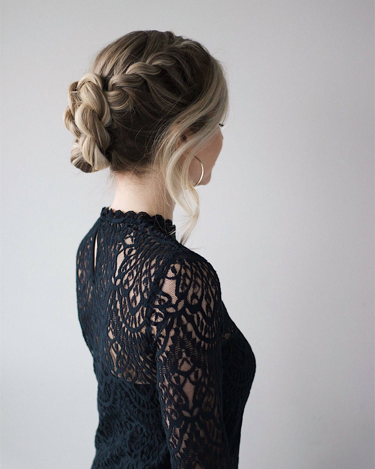 Braided French Twist Hair Tutorial | www.alexgaboury.com