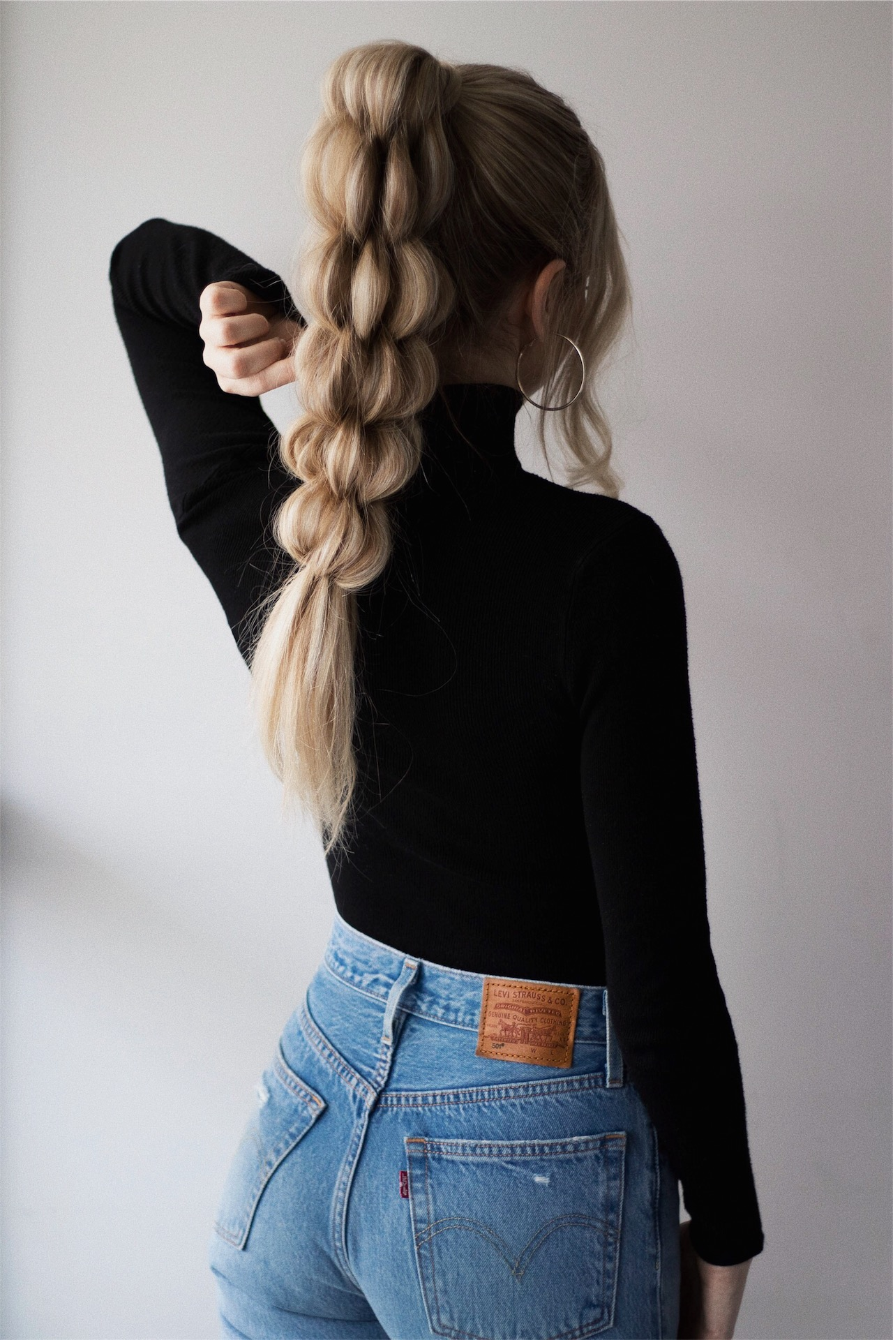 UNIQUE BRAIDED PONYTAIL HAIR TUTORIAL | www.alexgaboury.com