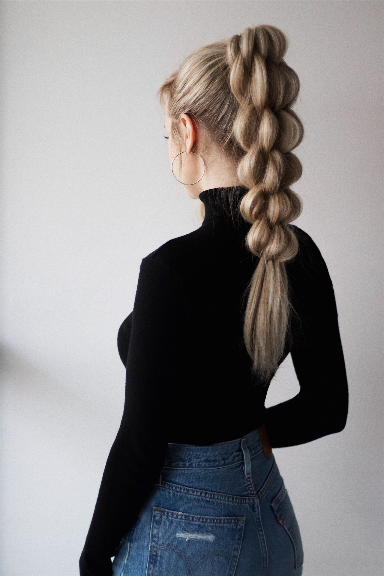 BRAIDED PONYTAIL HAIR TUTORIAL | www.alexgaboury.com