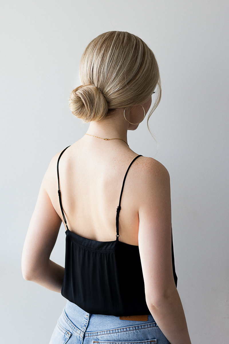 3 EASY LOW BUN HAIRSTYLES TUTORIAL | www.alexgaboury.com