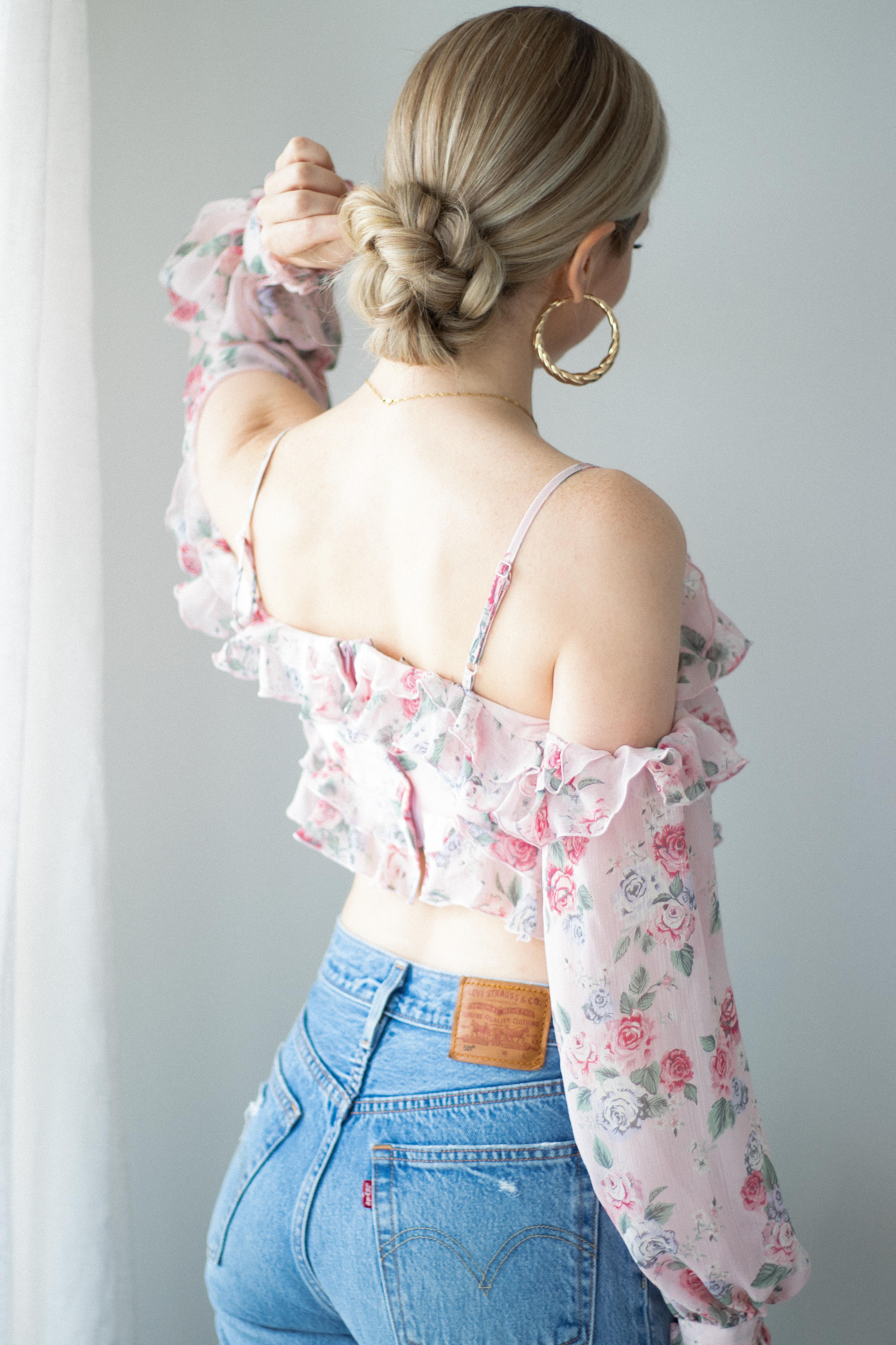 BRAIDED UPDO HAIRSTYLE PERFECT FOR WORK (with tutorial) | www.alexgaboury.com