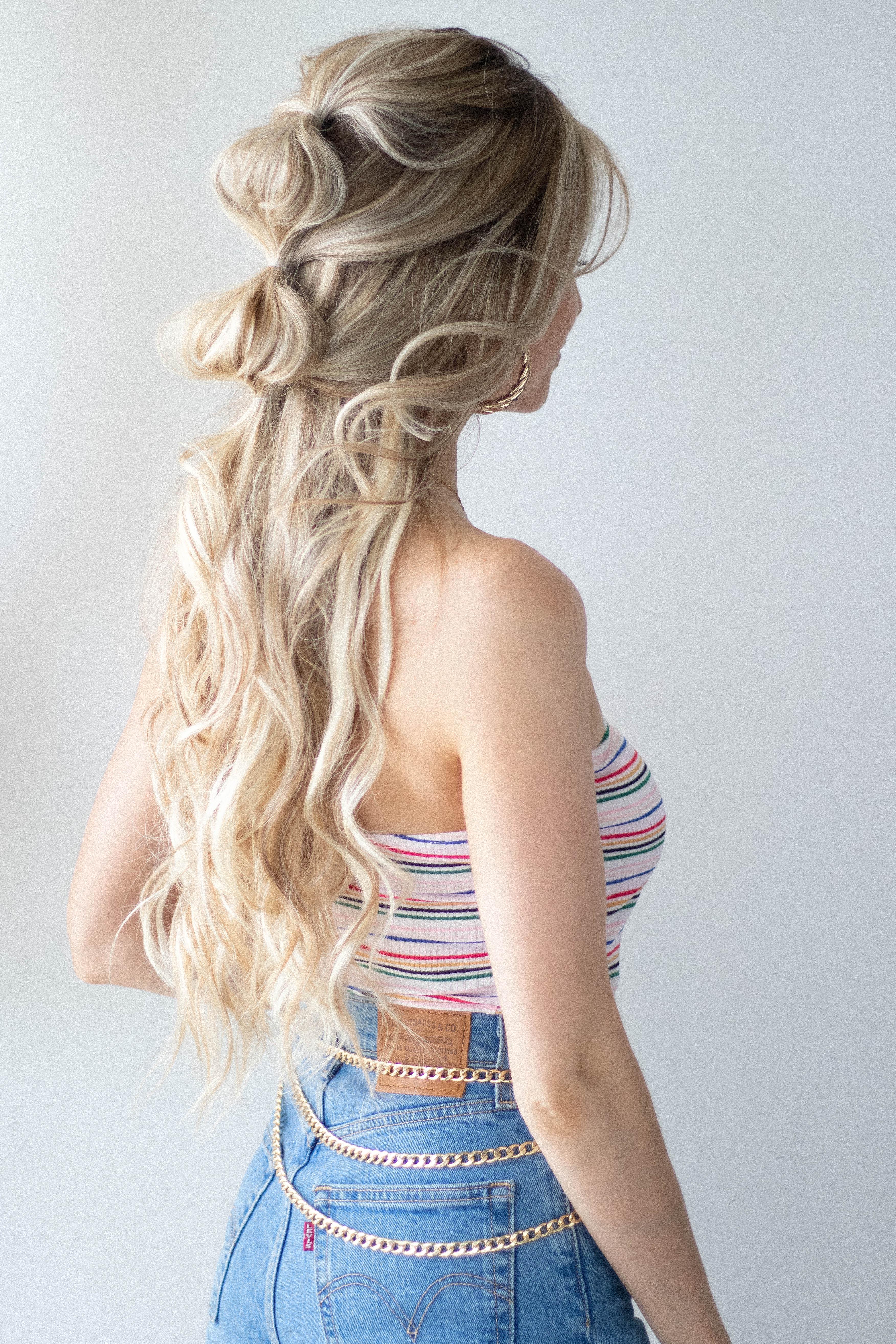 CUTE & EASY BUBBLE BRAID HAIR TUTORIAL | www.alexgaboury.com