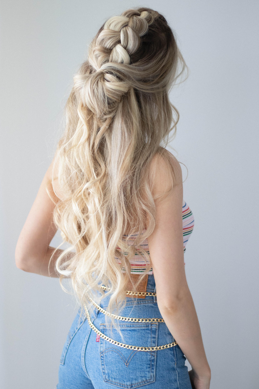 CUTE HALF-UP HAIR TUTORIAL | www.alexgaboury.com