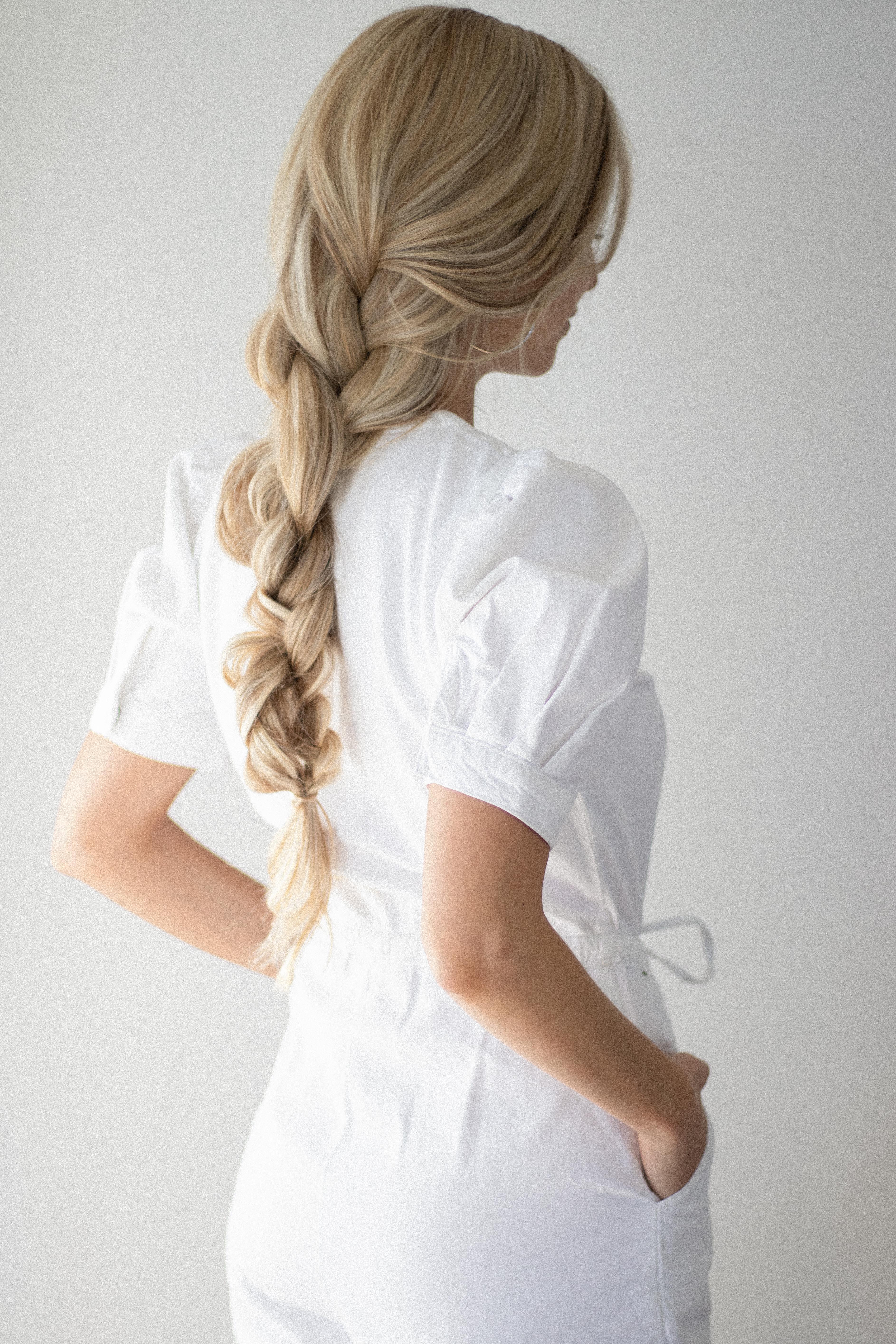 HOW TO BRAID PONYTAIL HAIR TUTORIAL | www.alexgaboury.com