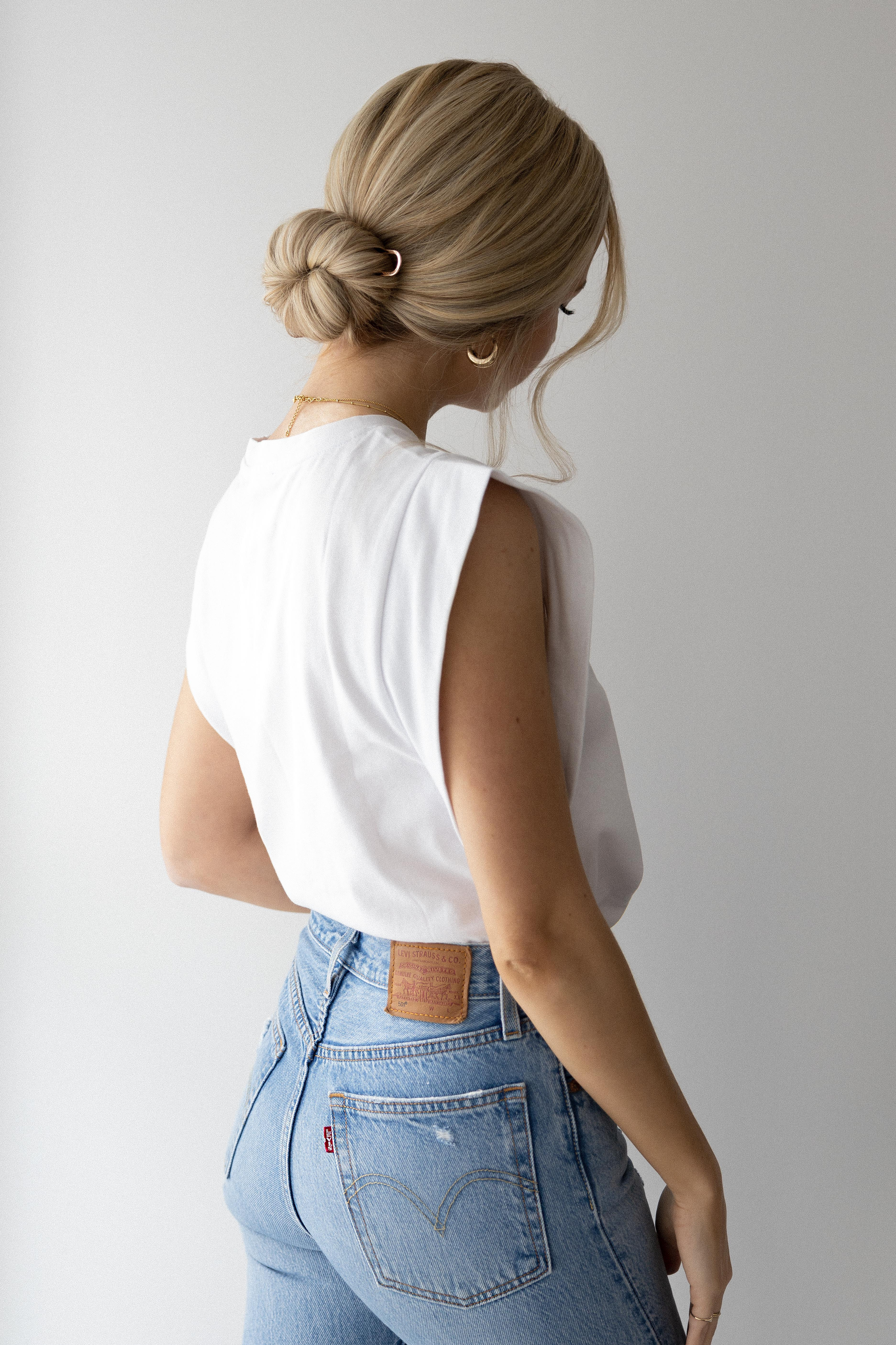 HOW TO: FRENCH PIN BUN Hair Tutorial | www.alexgaboury.com