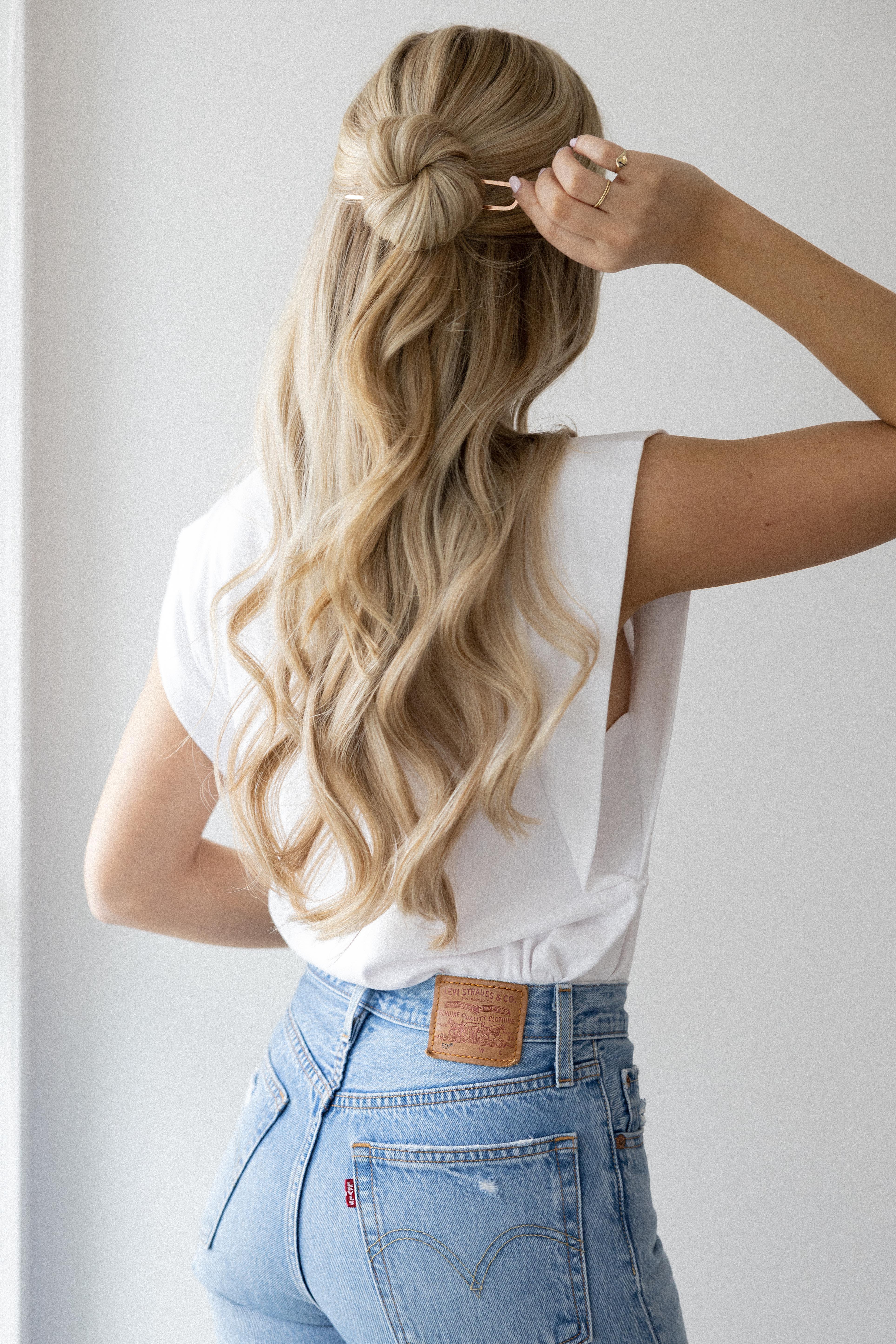 Kristin Ess FRENCH PIN Hair Tutorial | www.alexgaboury.com