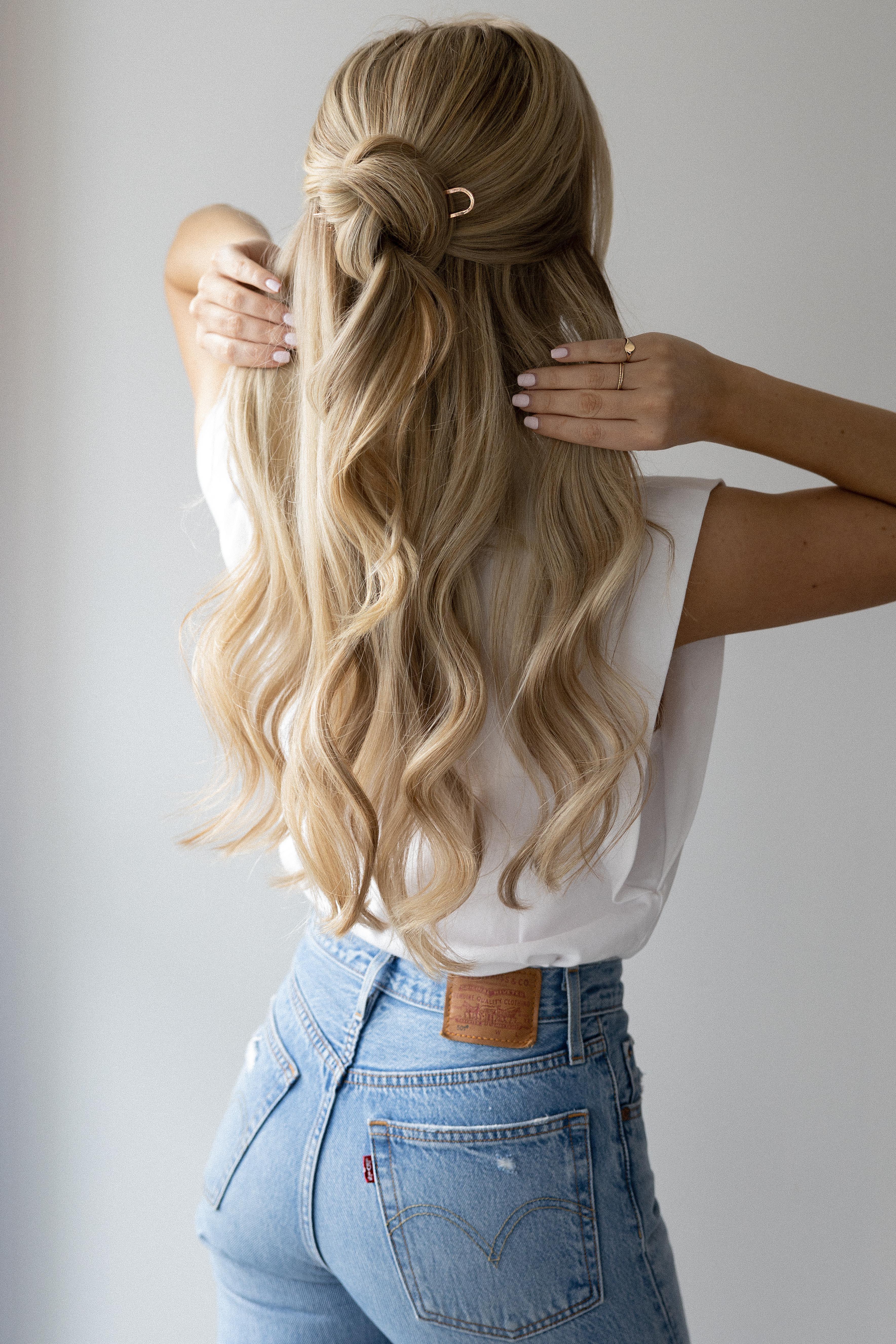 Kristin Ess French Pin Hair Tutorial - Alex Gaboury