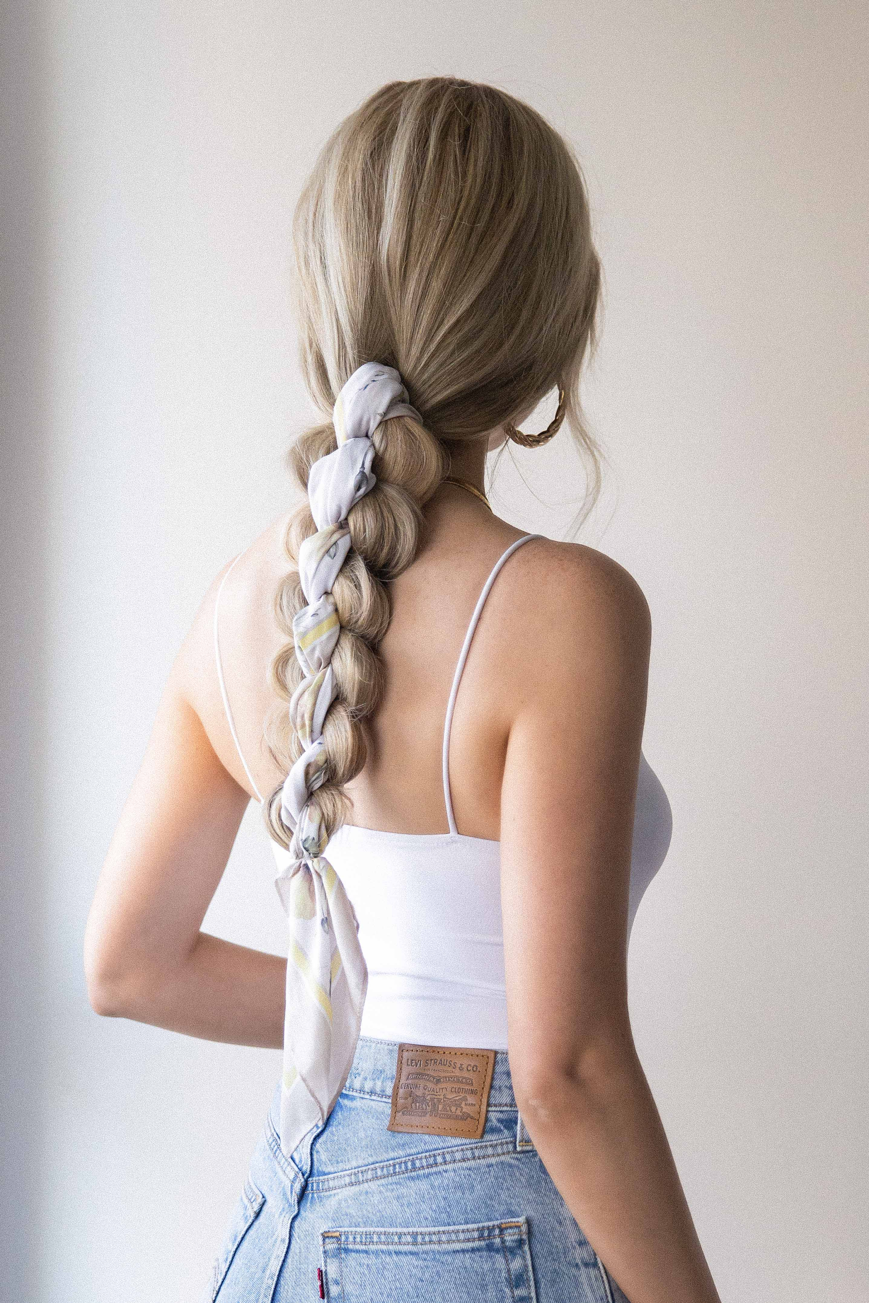 EASY BRAIDED PONYTAIL HAIRSTYLE for Medium - Long Hair Lengths + Hair Tutorial