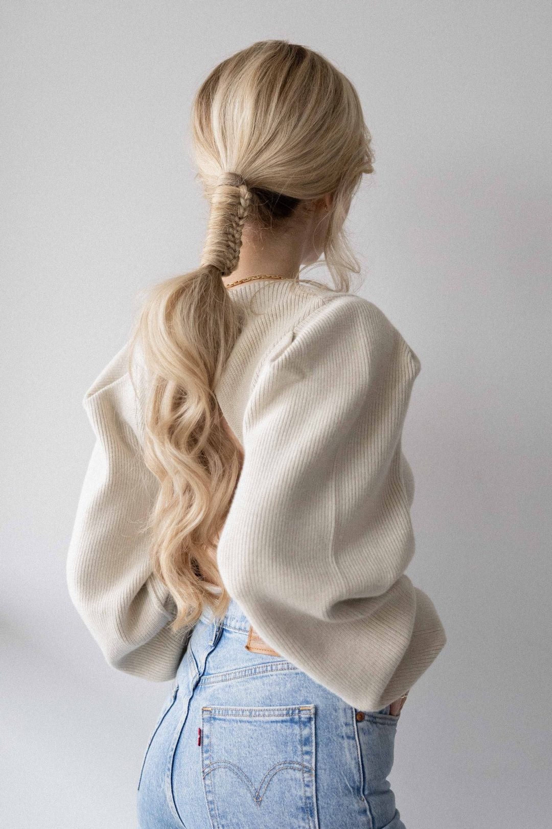 UNIQUE BRAIDED PONYTAIL HAIR TUTORIAL FOR THE HOLIDAYS - Alex Gaboury