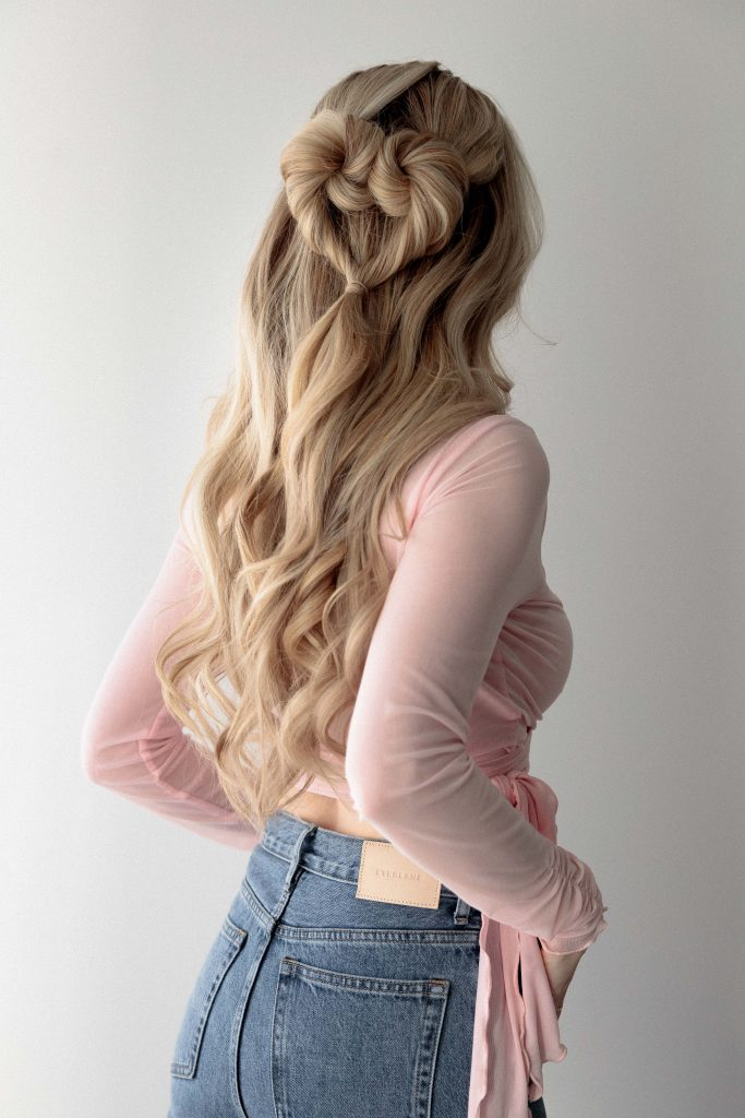 HEART HAIRSTYLE 3 WAYS PERFECT FOR VALENTINE'S DAY