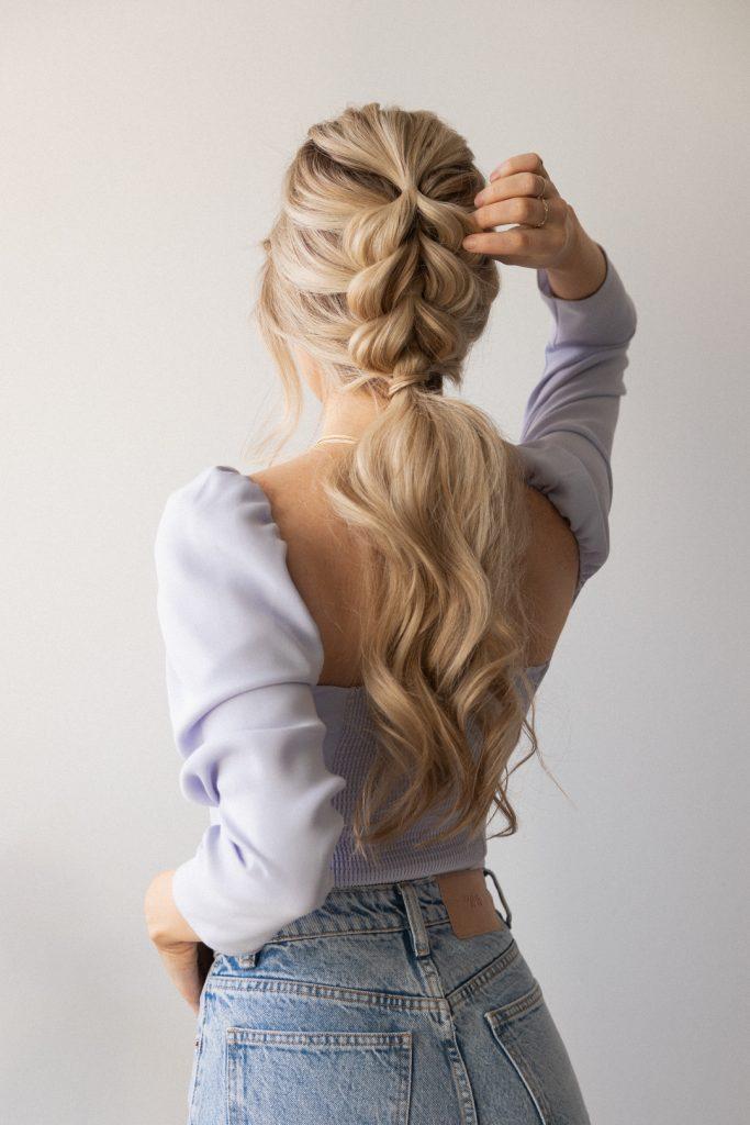 EASY BRAIDED PONYTAIL HAIRSTYLE SPRING 2021Wedding, Bridal, Long Hair