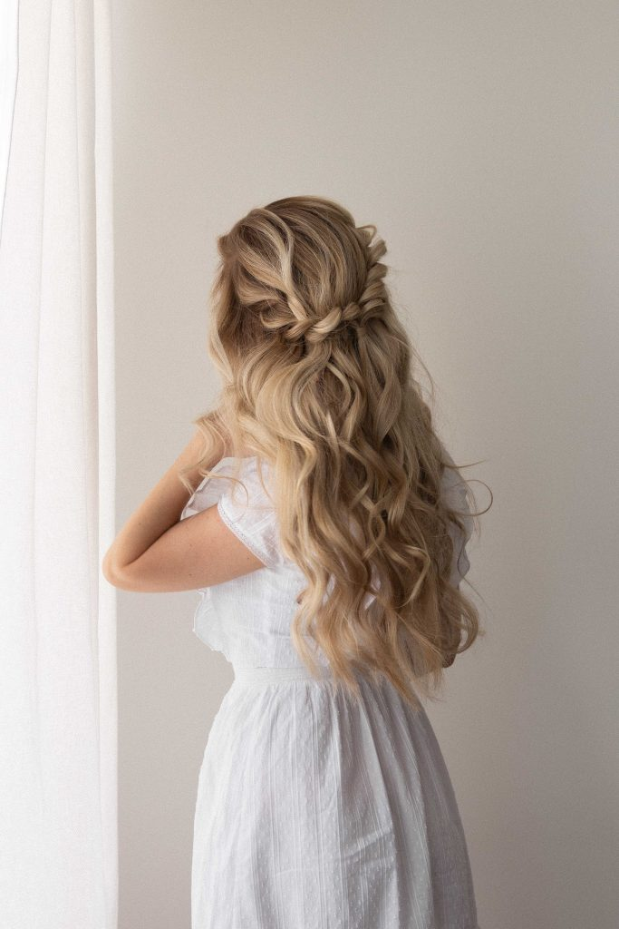 BOHO HALF UP HALF DOWN HAIRSTYLE + TUTORIAL |Wedding, Bridal, Prom hairstyles