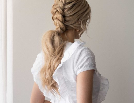 EASY BRAIDED PONYTAIL HAIRSTYLE SPRING 2021 Wedding, Bridal, Prom hairstyles