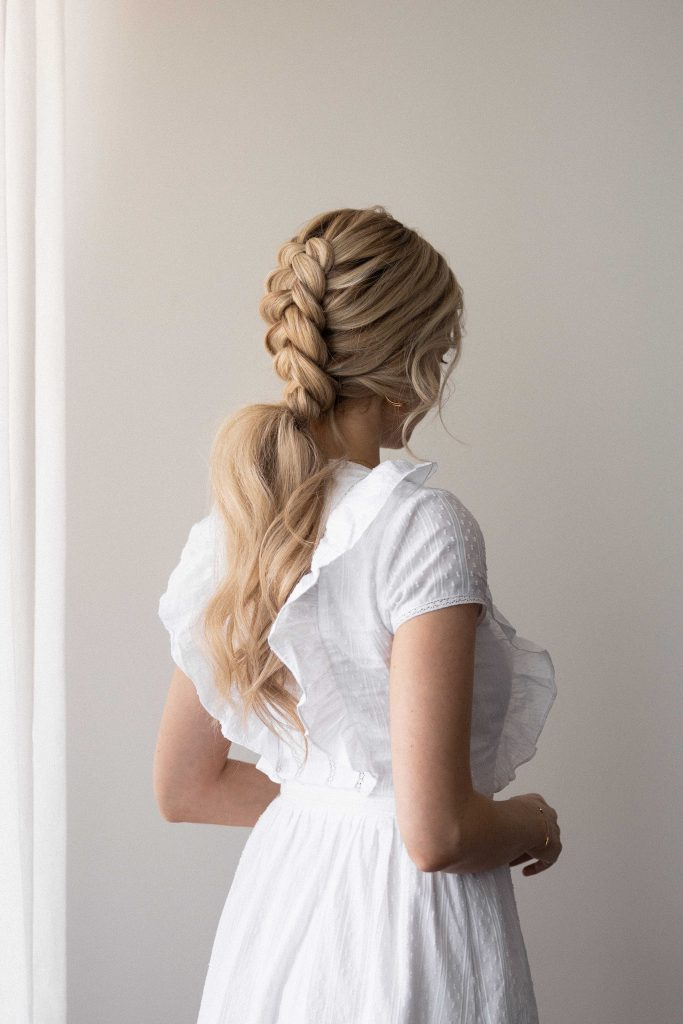 EASY BRAIDED PONYTAIL HAIRSTYLE SPRING 2021Wedding, Bridal, Prom hairstyles