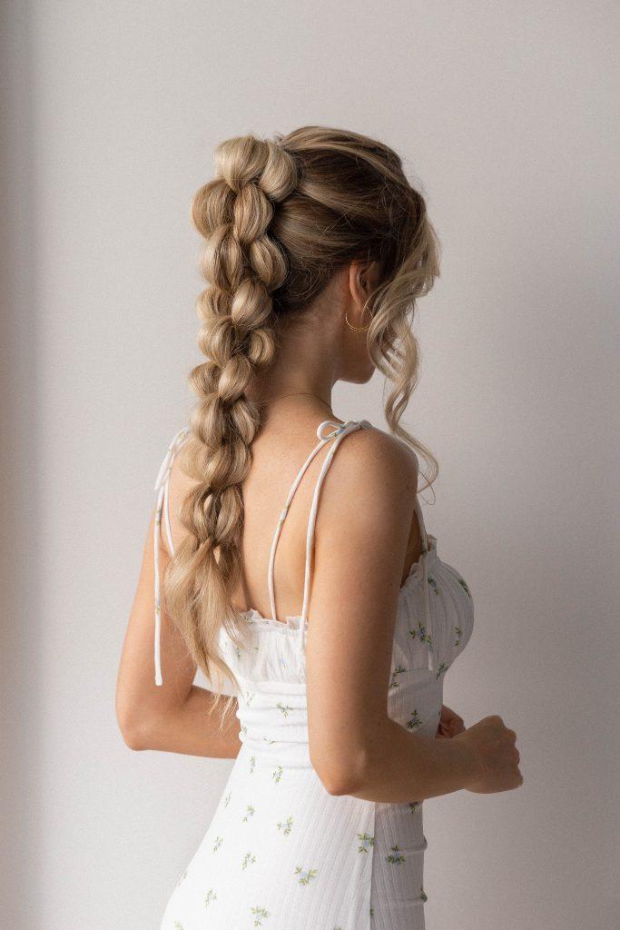 BEAUTIFUL BRAIDED PONYTAIL FOR SUMMER 2021 | Medium - Long Hair Hairstyles