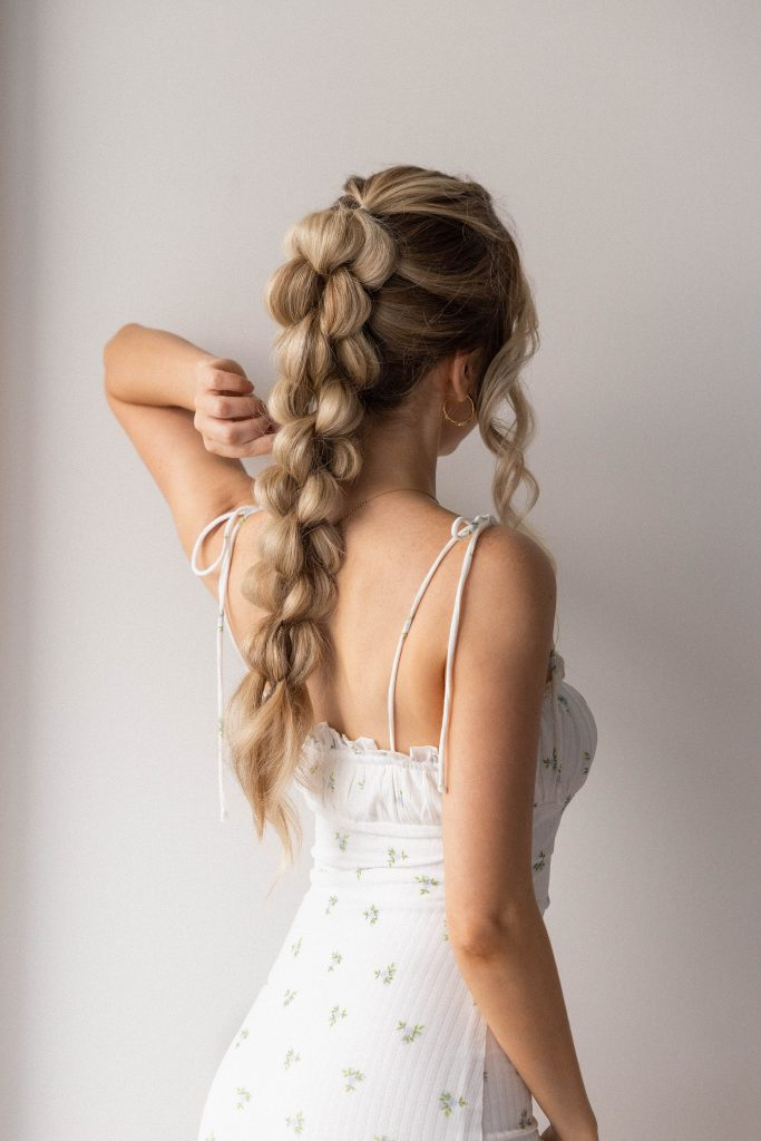 BEAUTIFUL BRAIDED PONYTAIL | Perfect for Summer, Prom, Graduation, Weddings