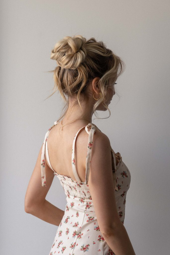 HIGH MESSY BUN HAIRSTYLE FOR SUMMER 20210 | Perfect for Prom, Bridal, Wedding, Graduation