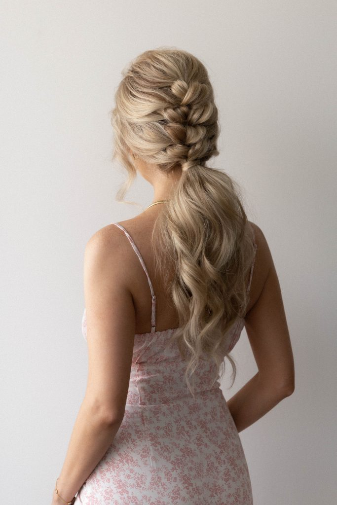 How To Braided Ponytail Hairstyle (Video Tutorial) | Wedding, Bridal, Long Hair Hairstyle