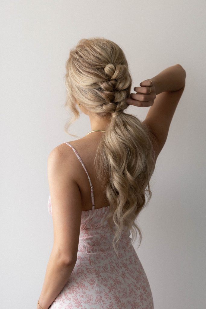 EASY BRAIDED PONYTAIL HAIRSTYLE SUMMER 2021 (video tutorial) | Wedding, Bridal, Long Hair Hairstyle